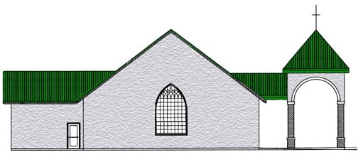 south elevation of King of Peace's new building