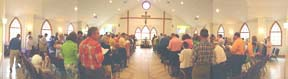 worship at King of Peace on Easter 2005