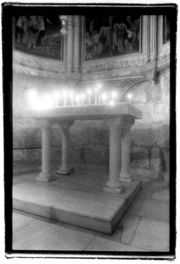 Frank's photo in the Church of the Holy Sepulchre, Jerusalem