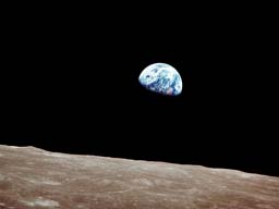 View of earth from Apollo 8 - photo courtesy NASA