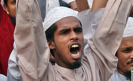 a protestor in Bangladesh