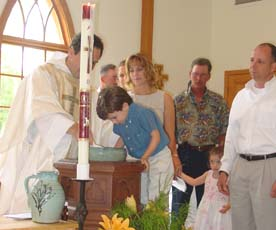 Max is baptized