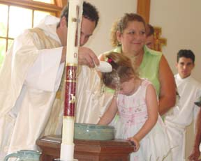 Payton is baptized