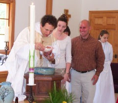 Aidan's baptism, which immediately followed this sermon