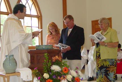Joe Ratulowski's baptism