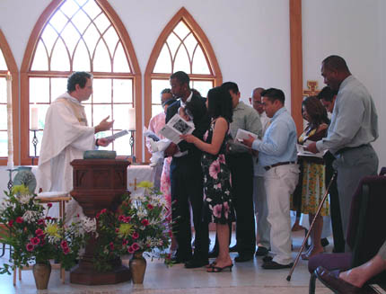 Tre's baptism