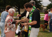 Blessing of the Animals at the Humane Society