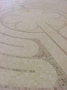 Detail of marble labyrinth at King of Peace