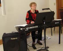 Carol plays a hymn on Christmas Day