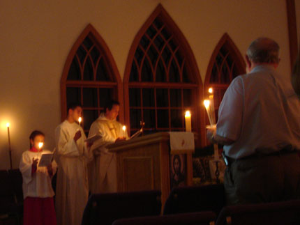King of Peace's candlelight service