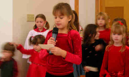 Christmas program at King of Peace