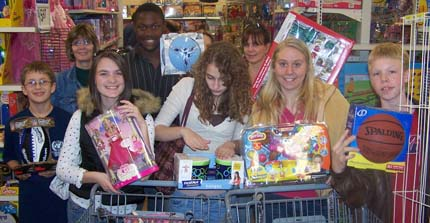 Teens with some of what we bought