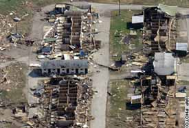 damage done by Tornado in Indiana
