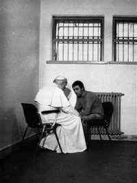 John Paul II meets with Agca