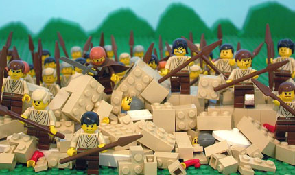 the scene as found in The Brick Testament