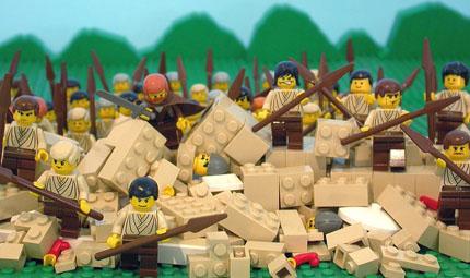 the scene as found in The Brick Testament