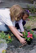 Amber and Hope planting