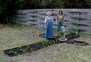 Bev and Victoria with finished garden