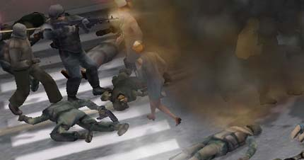 screen shot from the Left Behind game