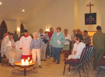 Sin burning during our worship