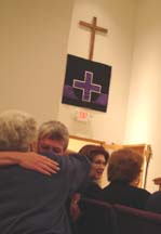 sharing the peace on Ash Wednesday