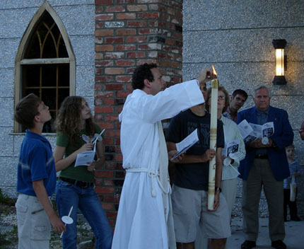 The start of the Easter Vigil
