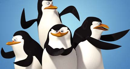 penguins from the movie Madagascar