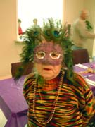 Janet dressed for Mardi Gras