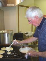 Menzer cooking pancakes