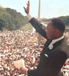 MLK at the Lincoln Memorial
