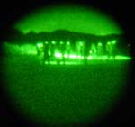 The night walk through a night vision scope