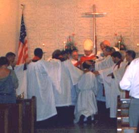 Frank's ordination at Trinity in 2000
