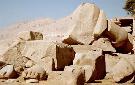 The Ramaseum, a site on which the poem Ozymandias is said to be based