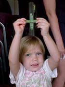 Jonna with her palm cross