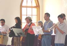 our musicians on Sunday morning