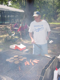 Neil grilling lunch