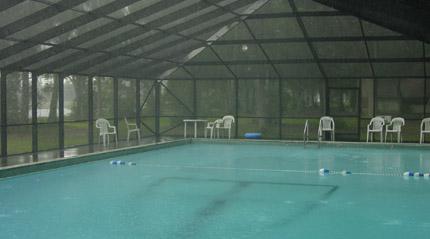A rainy pool