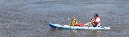 Kayaking on Honey Creek