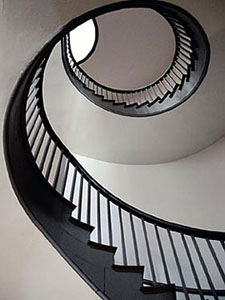 staircase in a Shaker village