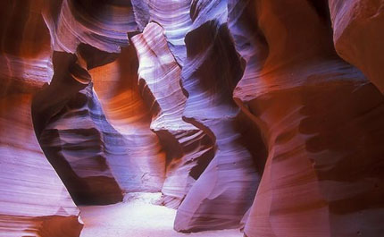 a slot canyon in Utah