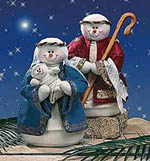 A snowman nativity