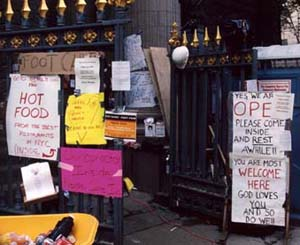 the welcome at St. Paul's NYC after 9/11