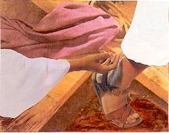touching the hem of Jesus robe