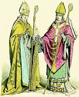 two bishops in chasubles