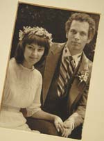 Frank and Victoria on their wedding day in 1985