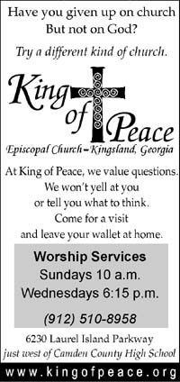 King of Peace's Yellow Page ad
