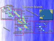 click to see a larger map of the Solomon Islands