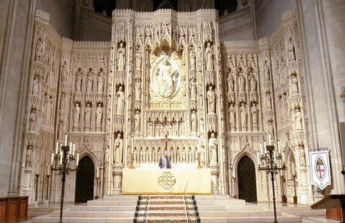 The high altar and reredos at Washington National Cathedral